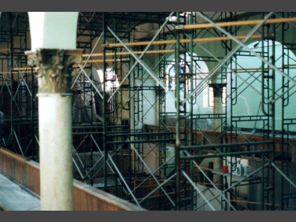 Complete interior renovation, wood refinishing, plastering, painting, floor refinishing