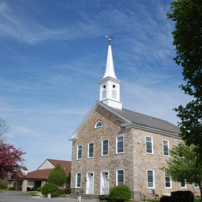 Completion of restored steeple, Window frames, cornice and front steps