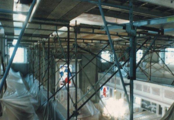 Interior restoration due to furnace blow back